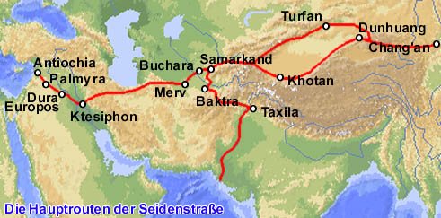 Karte Seidenstraßen